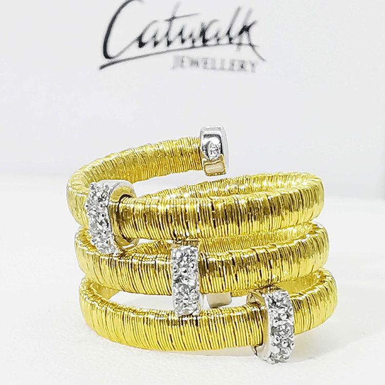 snygg ring i förgyllt silver AURORA från Catwalk Jewellery