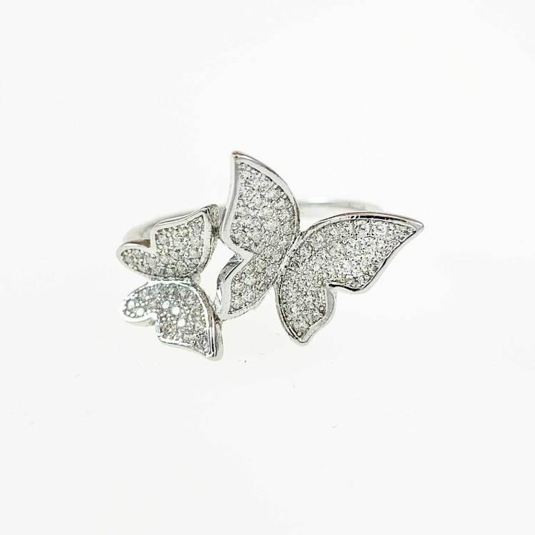snygg ring i rhodinerat silver Butterfly från Catwalk Jewellery