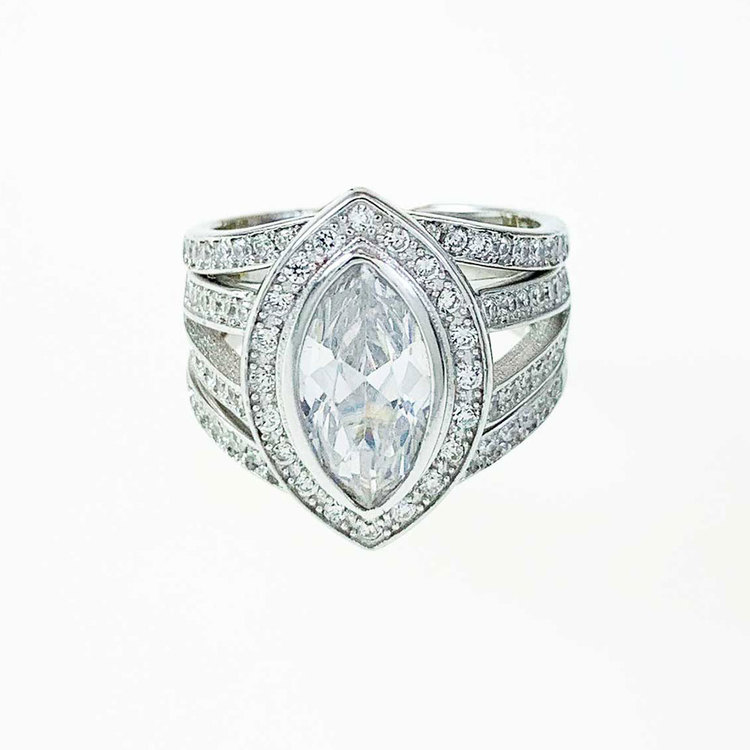 Ring Glow Sparkling Silver