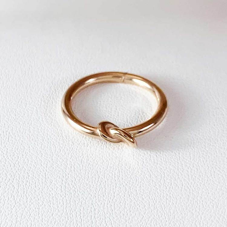 Ring Knot Pink Goldplated Sterlingsilver