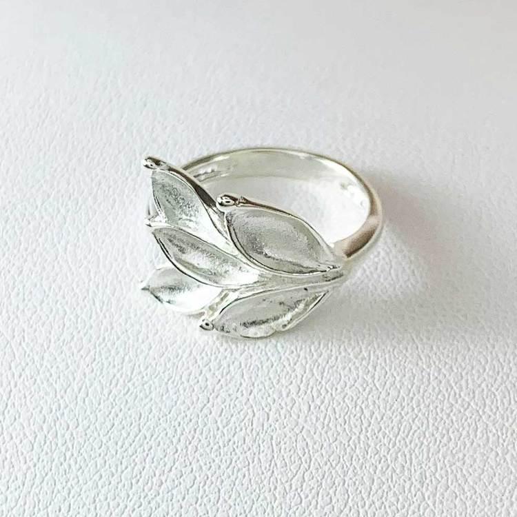 stilren ring Aleea i silver från Catwalk Jewellery