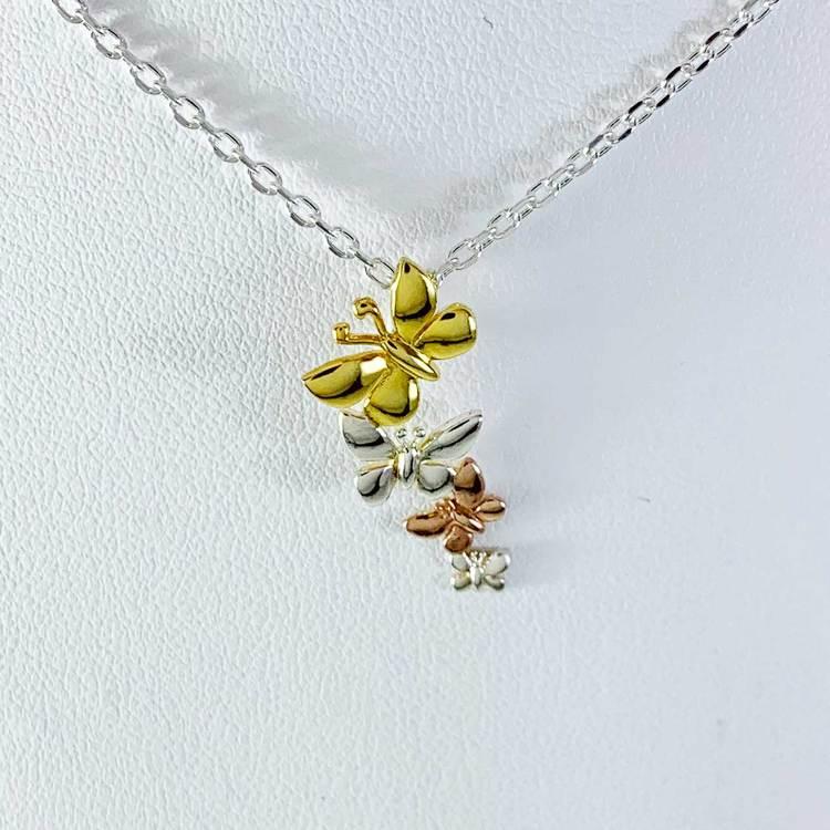 Fint halsband Butterfly i silver från Catwalk Jewellery