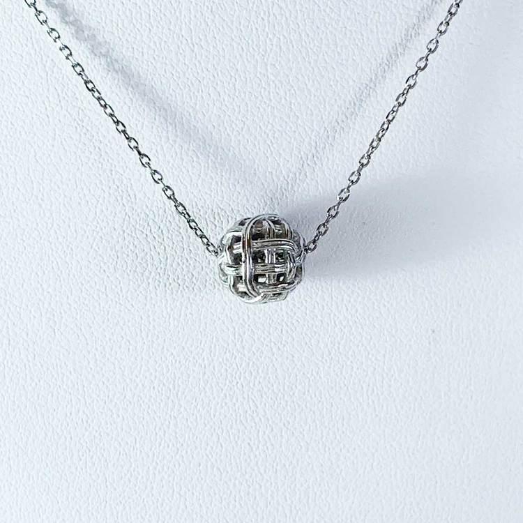 Snyggt silverhalsband BALL från Catwalk Jewellery