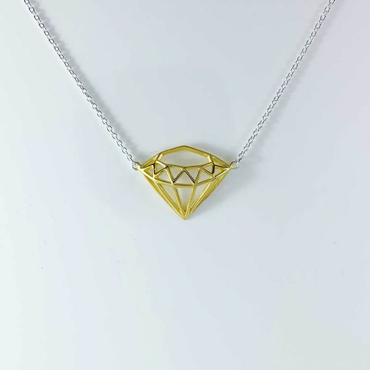 Halsband Diamond Silver / Förgyllt Silver