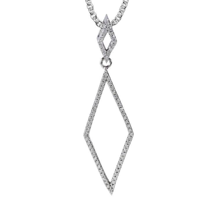 vackert halsband sparkling silver med cz-stenar från Catwalk Jewellery