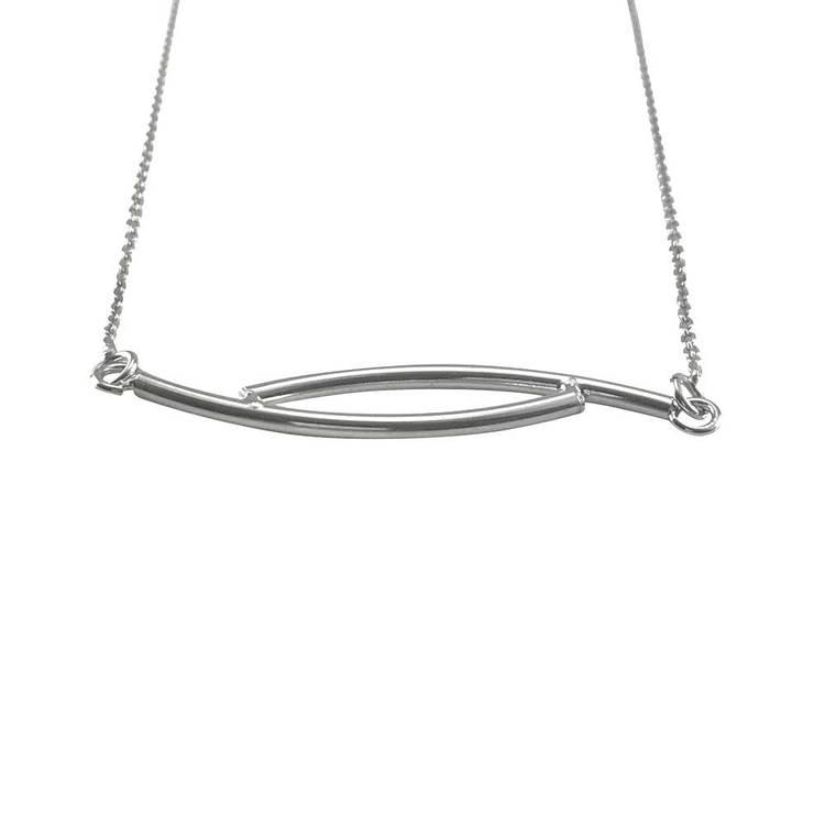 Halsband [Dubbelstav] i 925 sterlingsilver- Rhodinerad