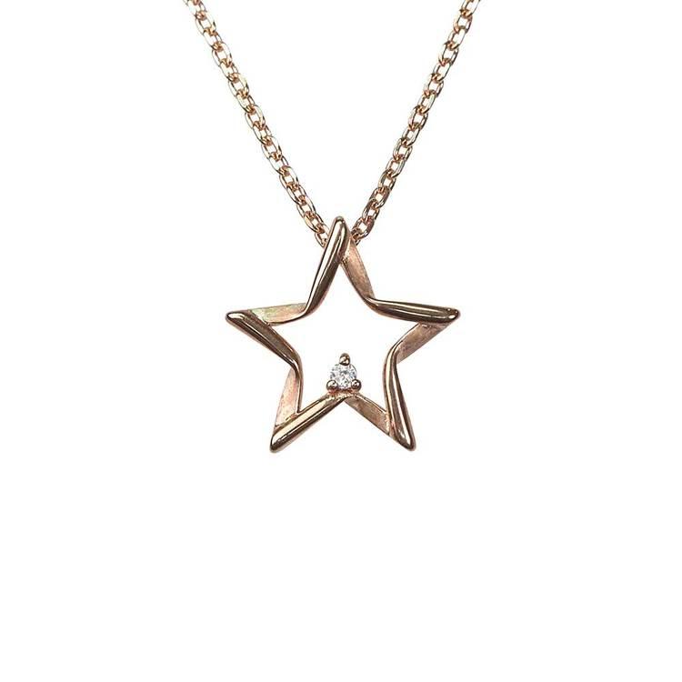 Halsband Sparkling Stars Pink Gold Silver