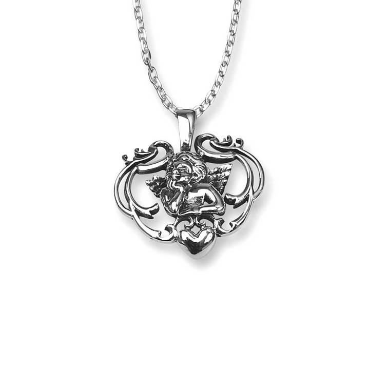 Halsband [ANGEL] i 925 rhodinerat silver