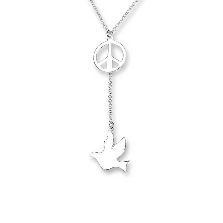 Halsband [PEACE/DOVE] i 925 silver