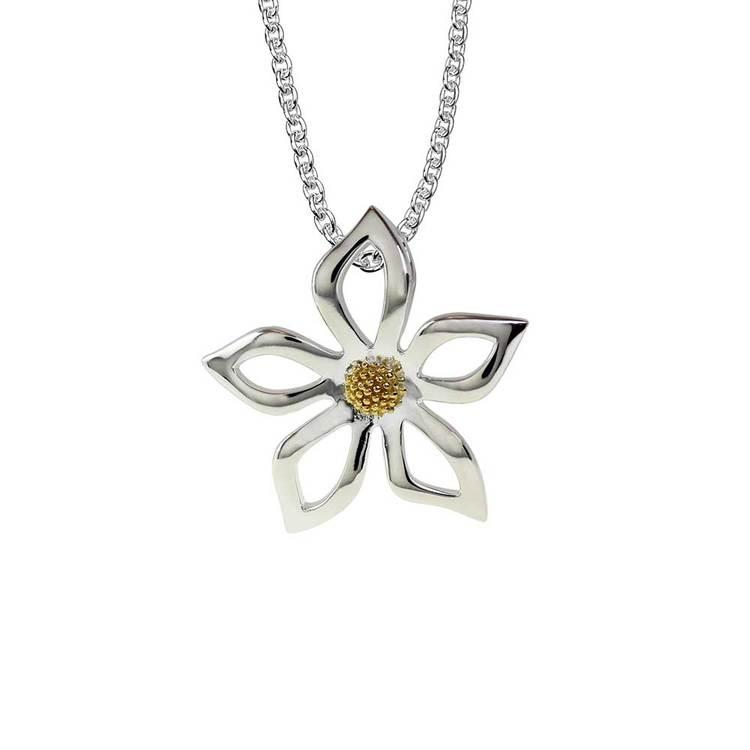 Halsband Flower i 925 silver