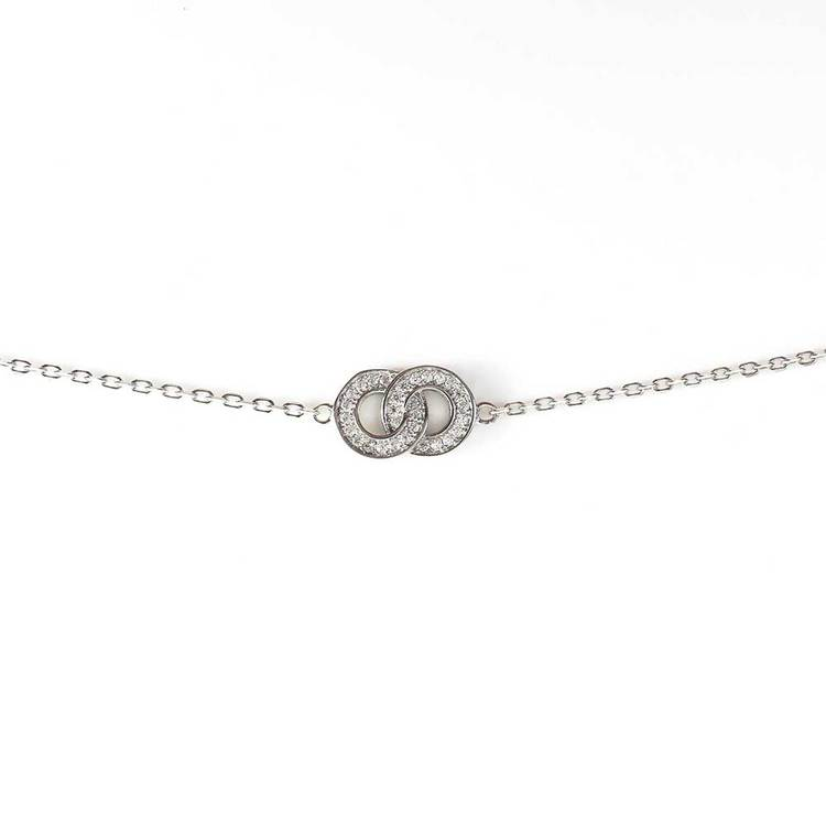 Armband Sparkling Double Rings Silver