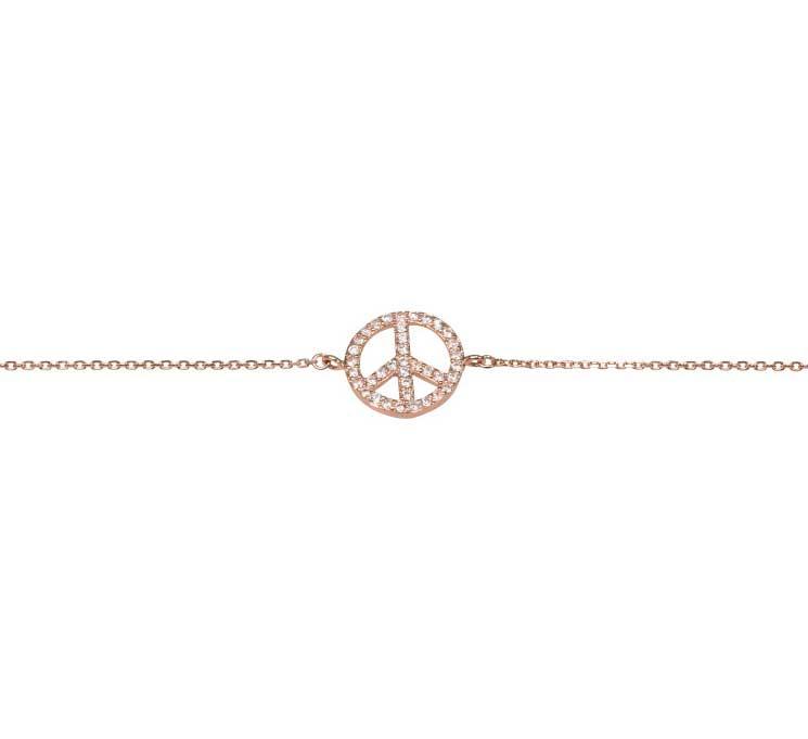 Snyggt peace armband från Catwalk Jewellery