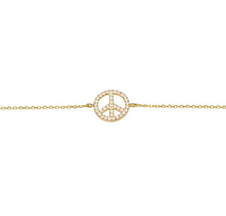 Armband Sparkling Peace Förgyllt / Roséförgyllt Silver