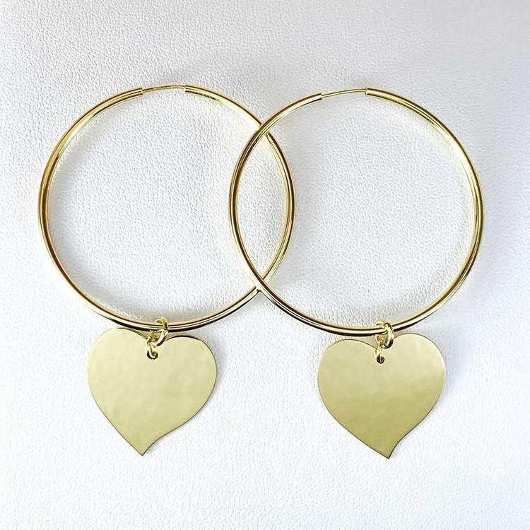 Creoler Heart Förgyllt Silver