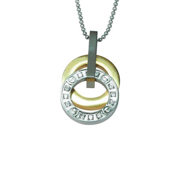 Halsband [GOLD/STEEL] i stål