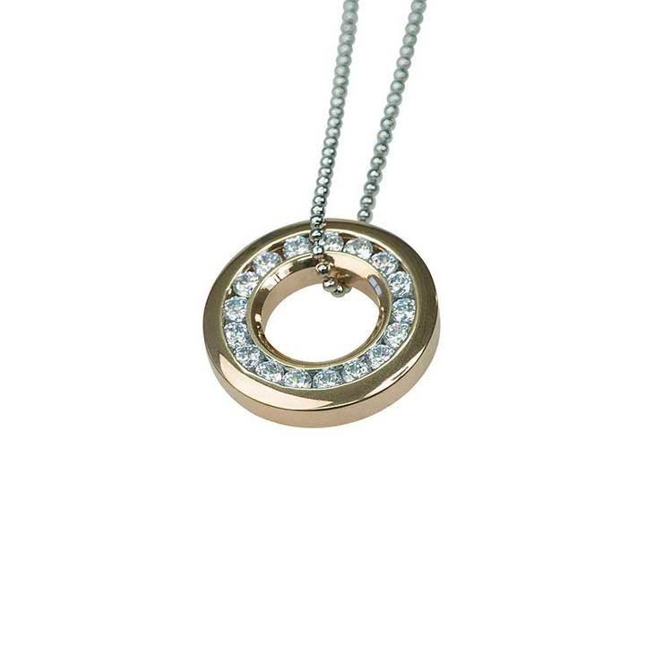 Halsband [CIRCLE] med cz-stenar