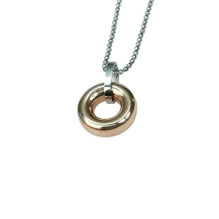 Halsband [PINK GOLD CIRCLE] i stål