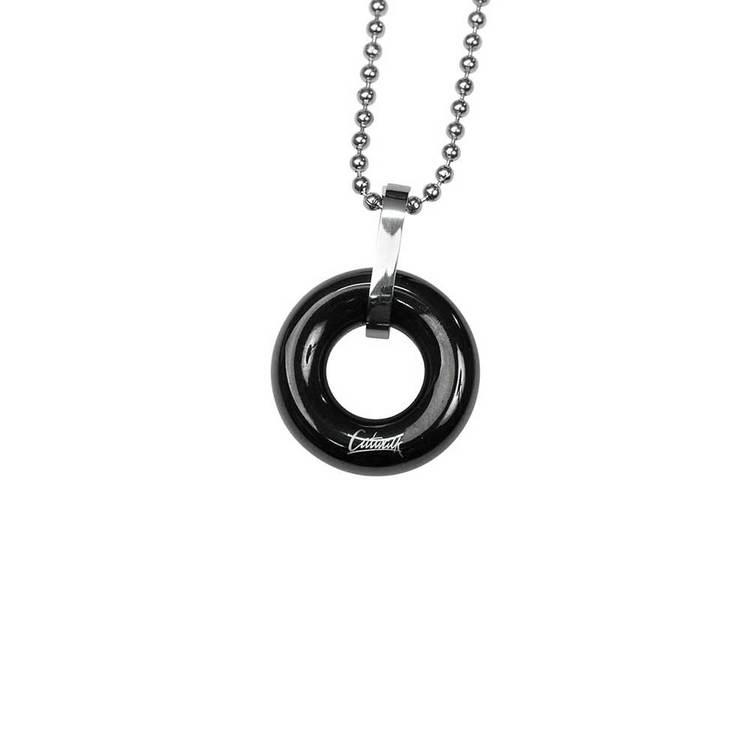 Halsband [BLACK CIRCLE] i stål