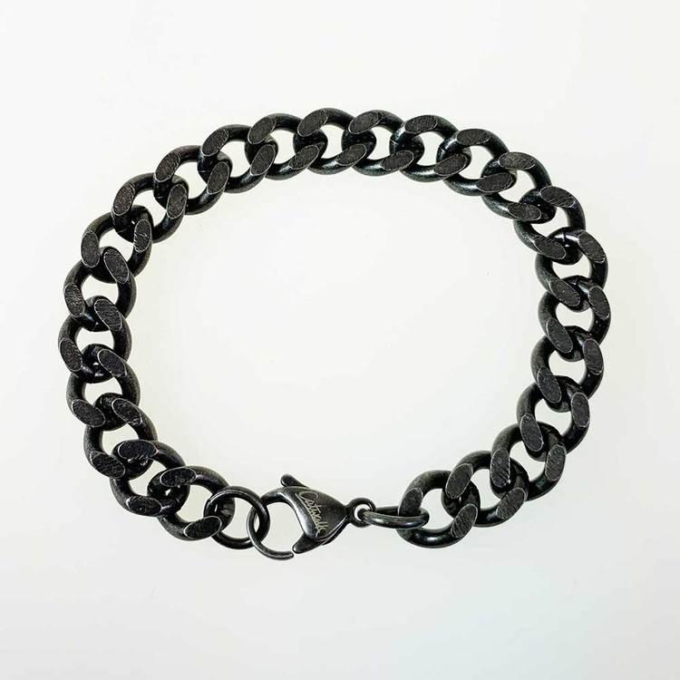 coolt pansararmband i oxiderat stål till henne till honom från Catwalk Jewellery