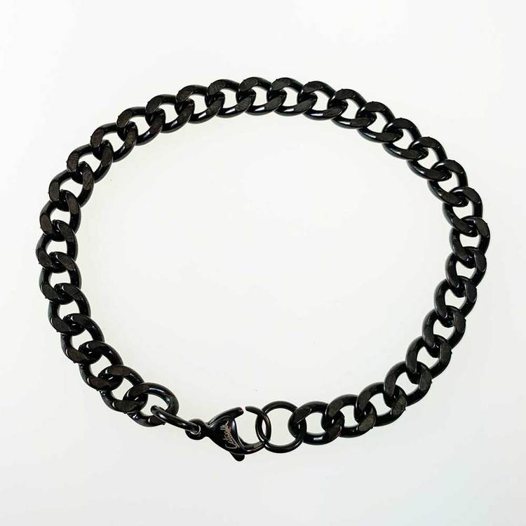 Pansararmband Svart Stål - 6,5 mm