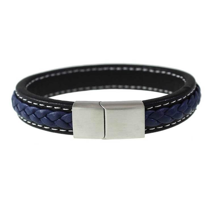 Läderarmband Svart / Navy