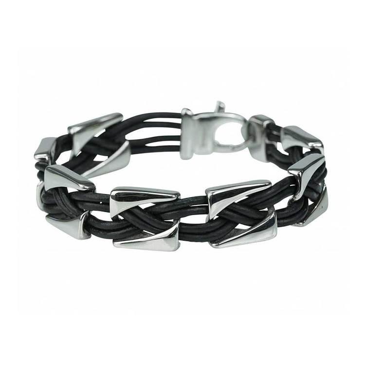 Armband Läder / Stål