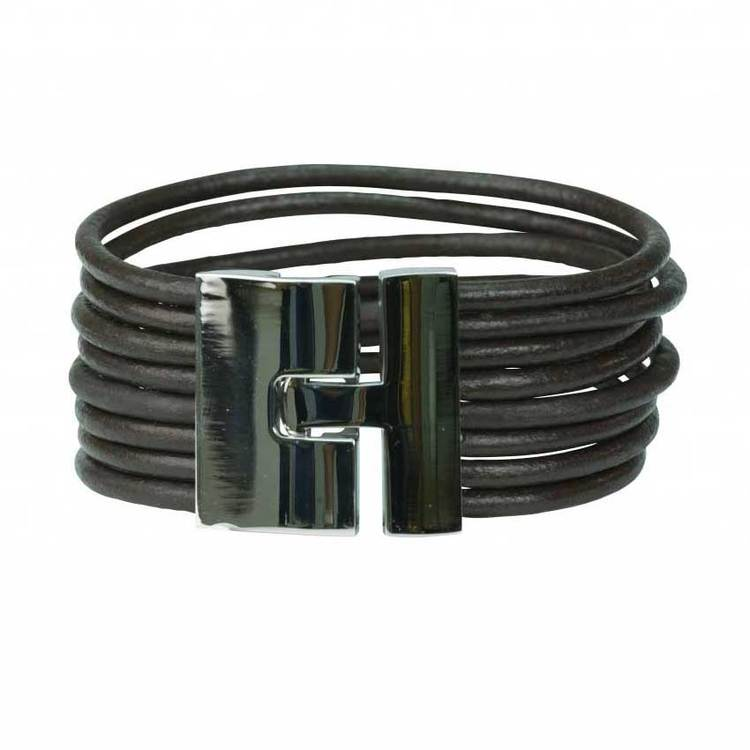Läderarmband - Svart