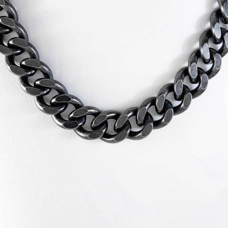 Halsband Pansar antic oxide steel - 12 mm