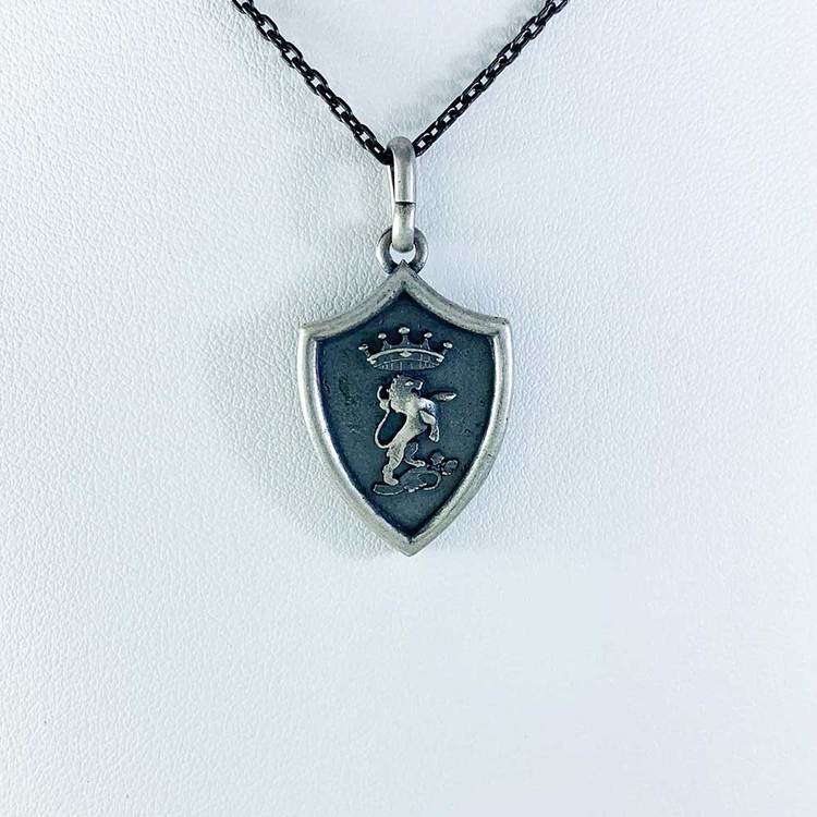 Hänge [CREST] i oxiderat 925 silver