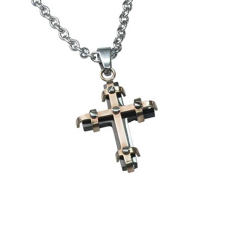Halsband Cross Stål
