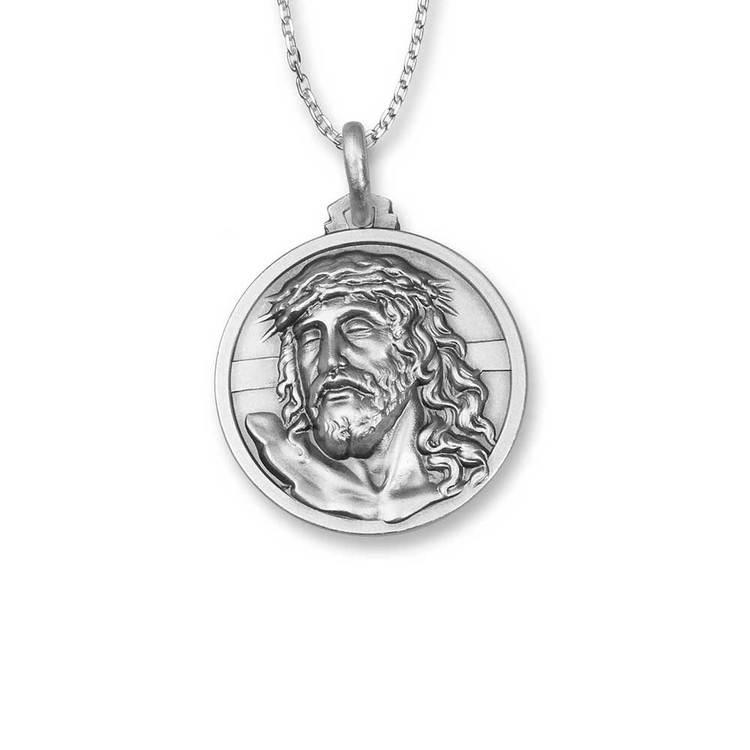 Halsband Jesus Rhodinerat Silver