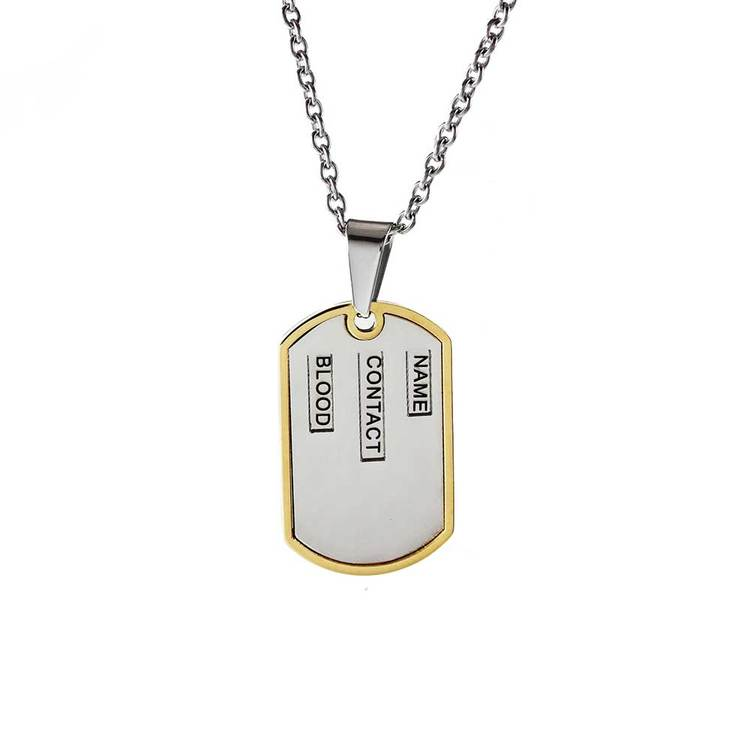 Halsband ID-Tag Stål