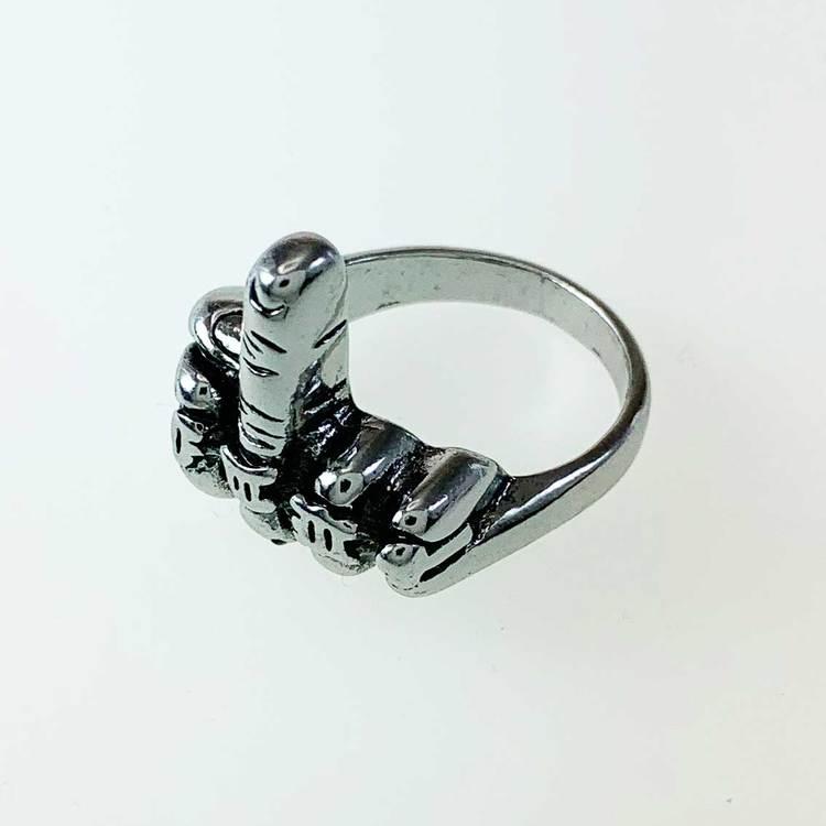 """Ring """"Middle Finger"""" Stål"""