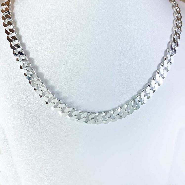 Pansarhalsband i 925 silver - 7,8 mm