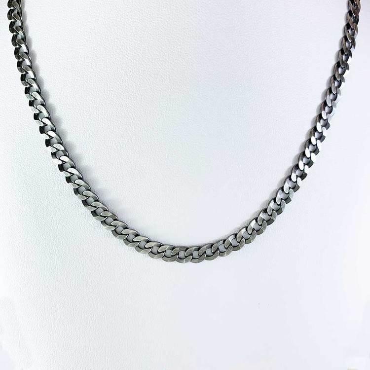 Pansarhalsband i oxiderat 925 silver - 5 mm