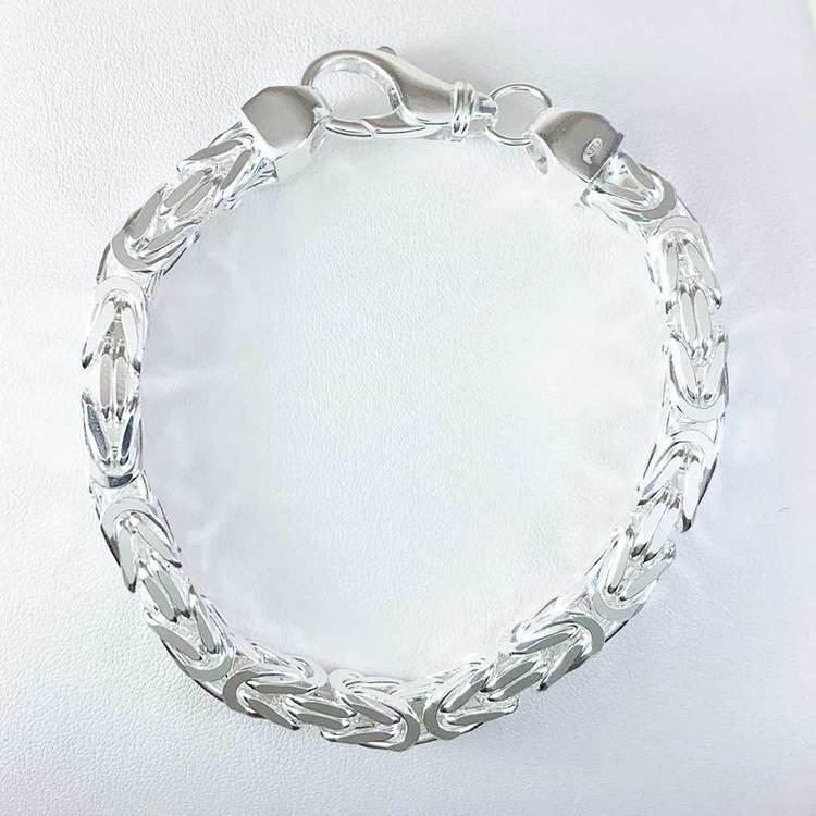 Massiv fyrkantig kejsarlänk - Armband 6,5 mm