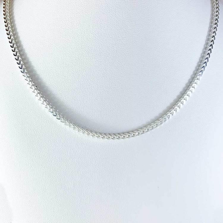 halsband i oxiderat silver för män från catwalk jewellery
