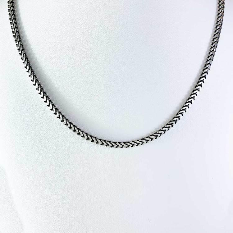 halsband i oxiderat silver för män och kvinnor, för honom, för henne från catwalksmycken