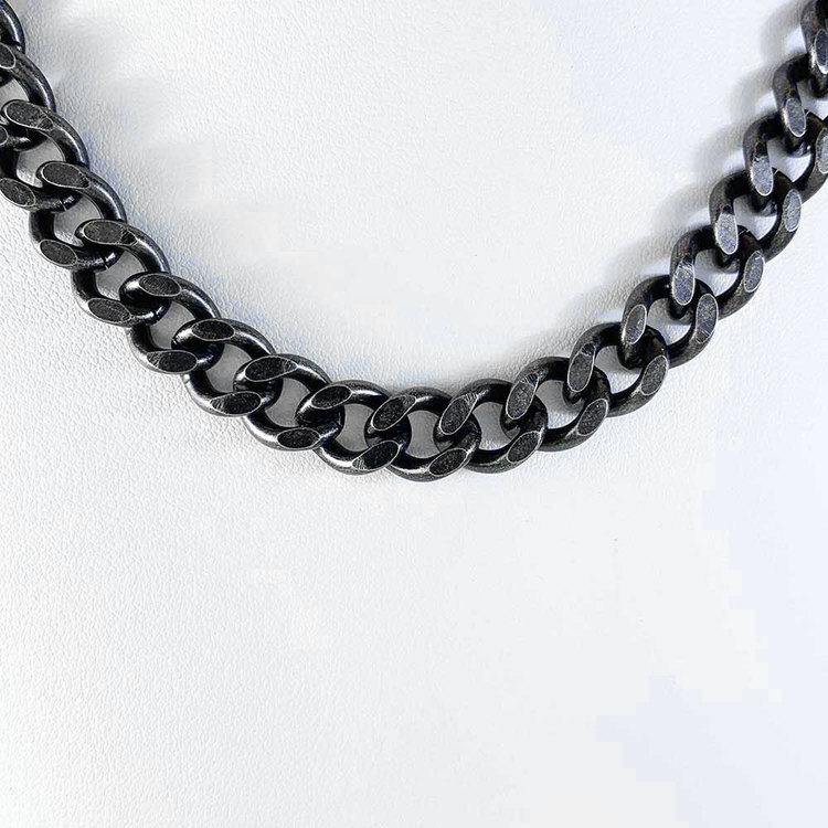 Halsband Pansar antic oxide steel - 10 mm