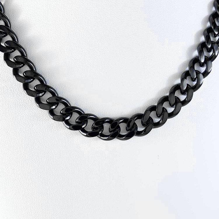 Pansarhalsband svart stål från Catwalk Jewellery