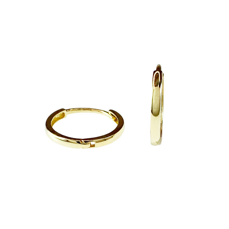 Creoler 18K guld - 12,3 x 1,5 mm