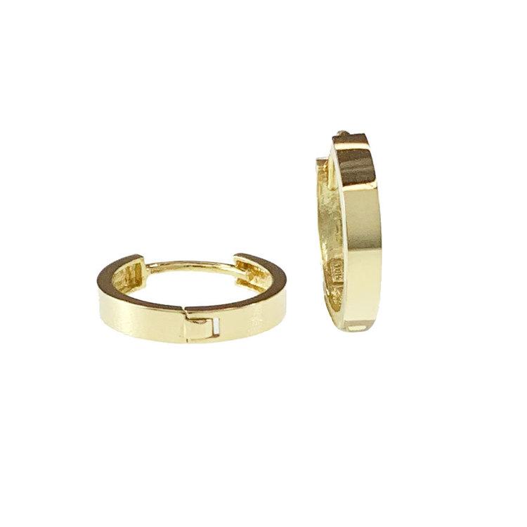 Vackra creoler GOLDEN RINGS i 18K guld från Catwalk Jewellery
