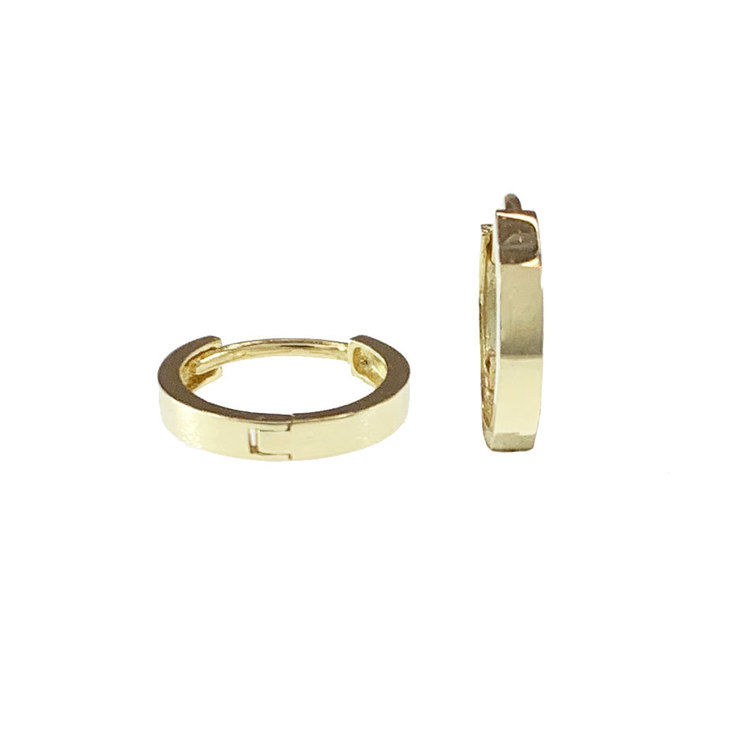 Creoler 18K guld - 11 x 1,9 mm