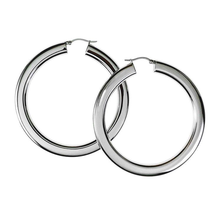 Steel Hoops örhängen från Catwalk Jewellery