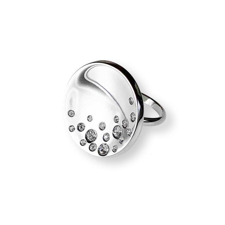 Steelring Cosmos med cz stenar från Catwalk Jewellery