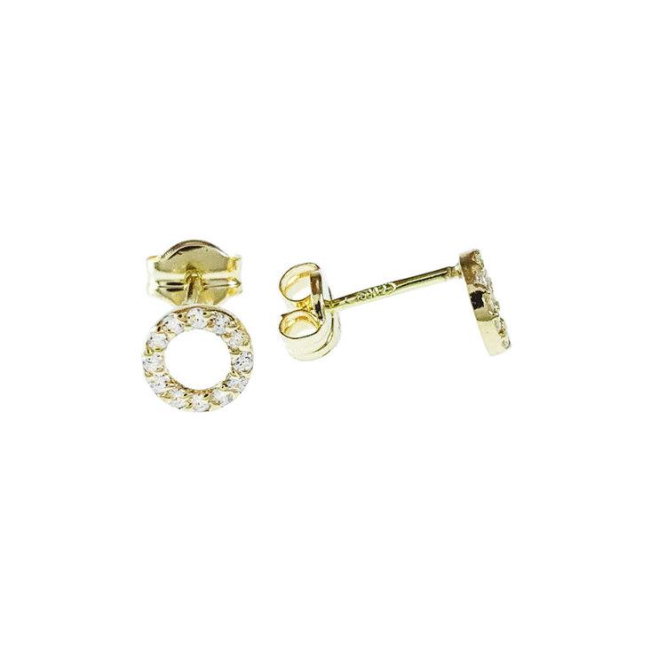 Örhängen Double Rings 18K Guld