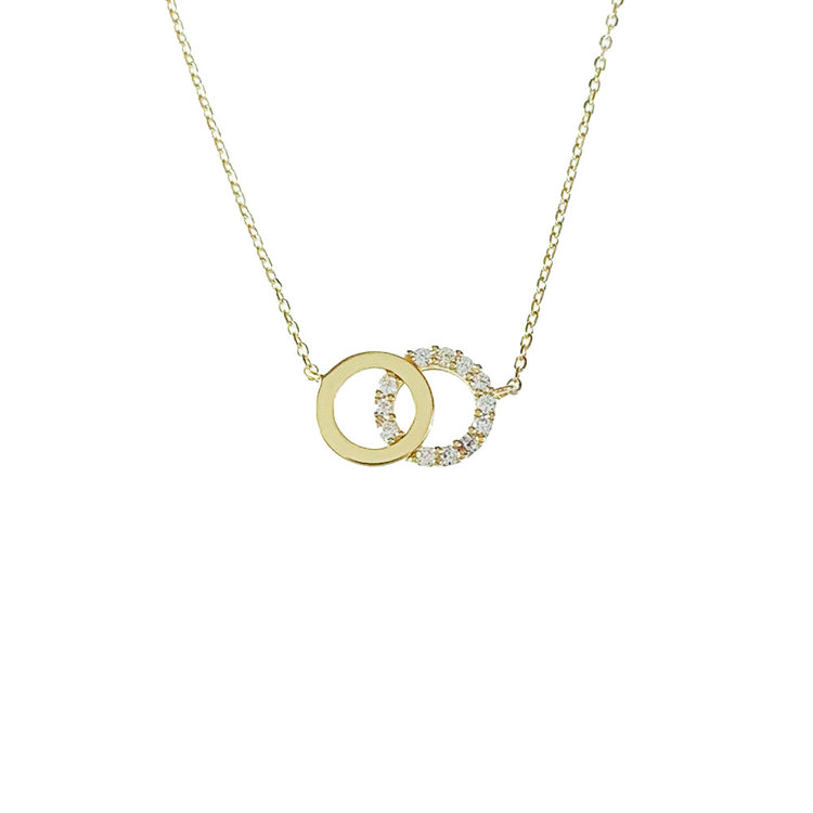 Halsband Double Rings Gold