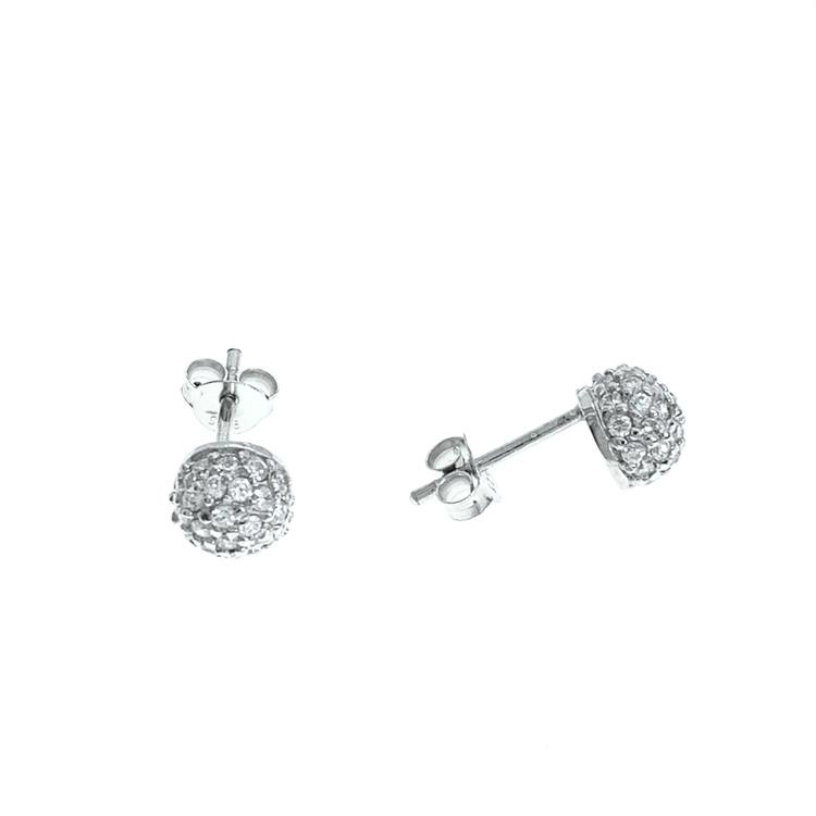 Örhängen Small Sparkling Ball Silver