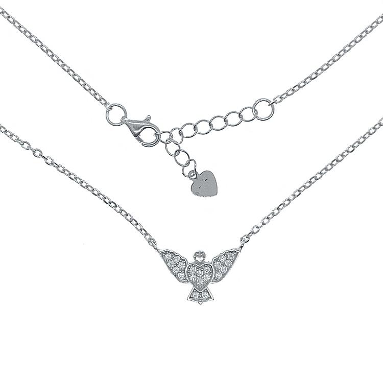 Halsband Sparkling Angel Silver