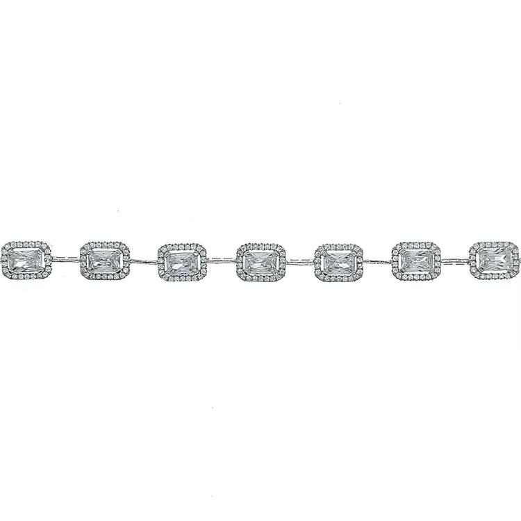armband i silver med cz stenar till henne från Catwalk Jewellery
